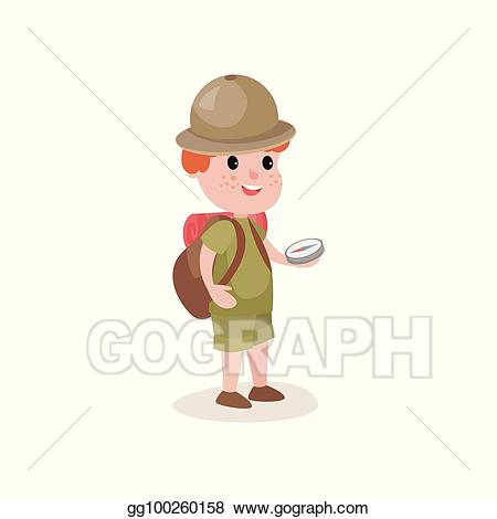 Explorer clipart compus. Vector stock young with