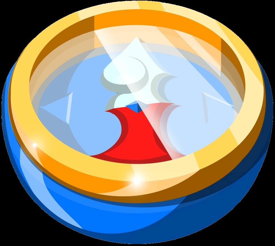 Explorer clipart compus. Compass zeldapedia fandom powered