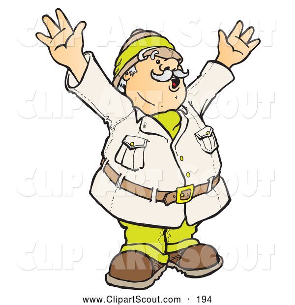 Explorer clipart discovered. Of a happy male