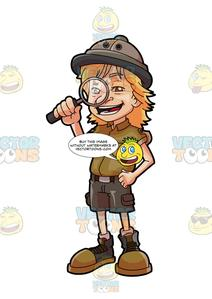 A young . Explorer clipart discovered