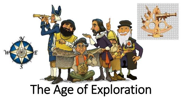 The age of . Explorer clipart exploration european
