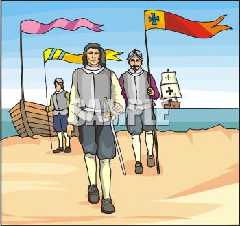 Explorer clipart explorer spanish. Picture of explorers landing