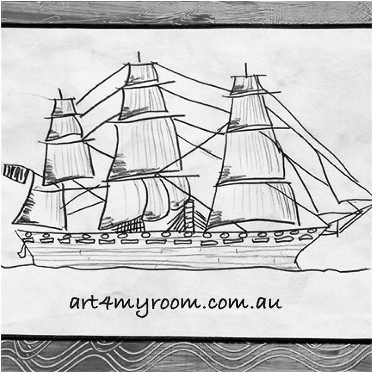 The history australia pencil. Explorer clipart first fleet ship