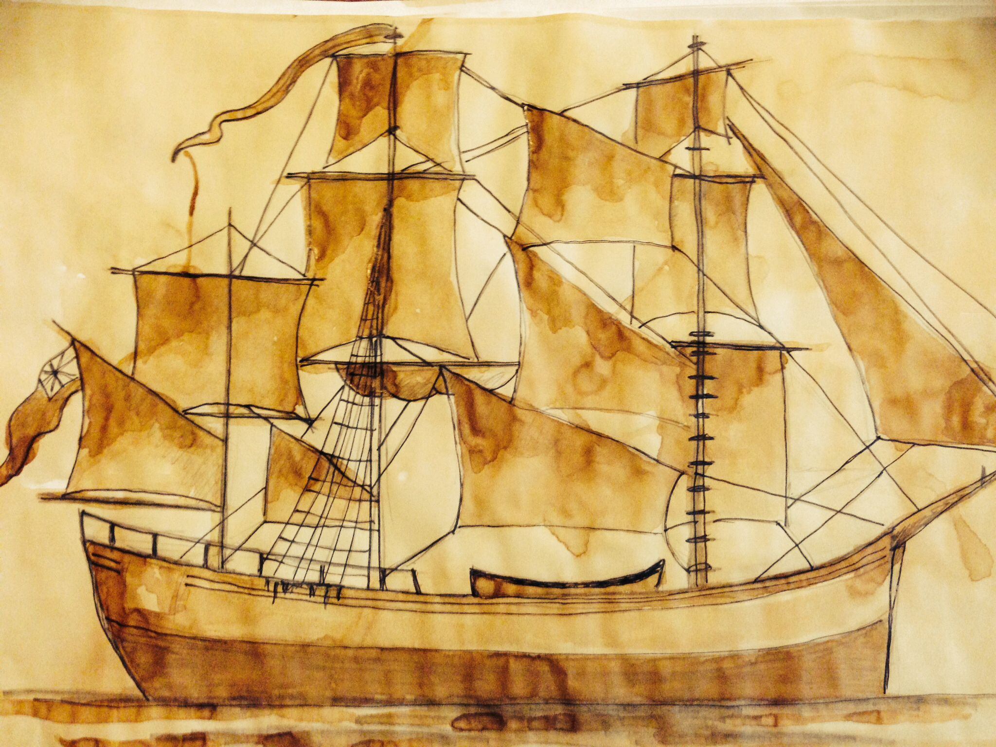 Explorer clipart first fleet ship. Drawing one of the