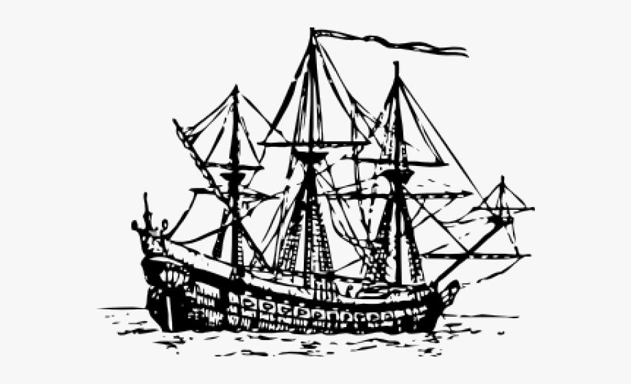 Caravel spanish sail png. Explorer clipart first fleet ship