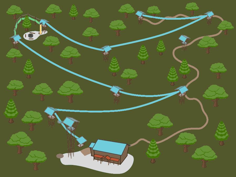 Ozark zipline canopy tour. Explorer clipart forest walk