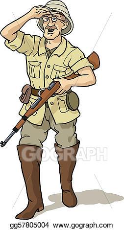 Stock illustration and . Explorer clipart jungle hunter