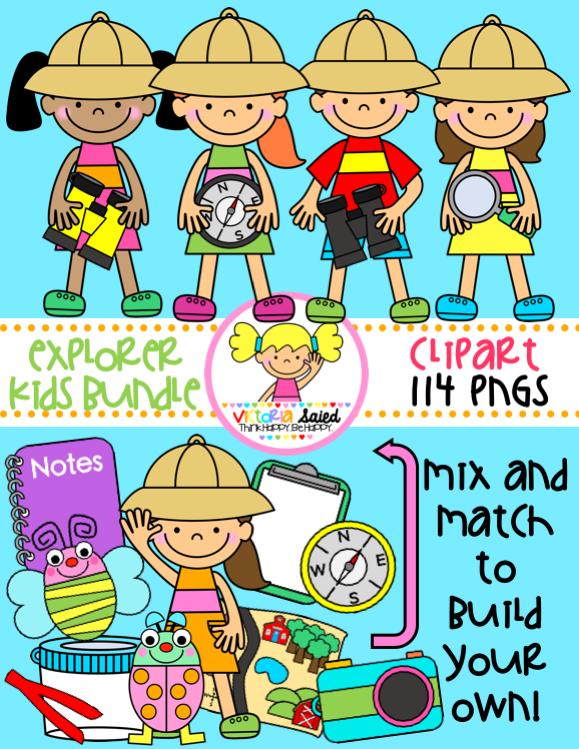 Kids bundle for teachers. Explorer clipart kid explorer