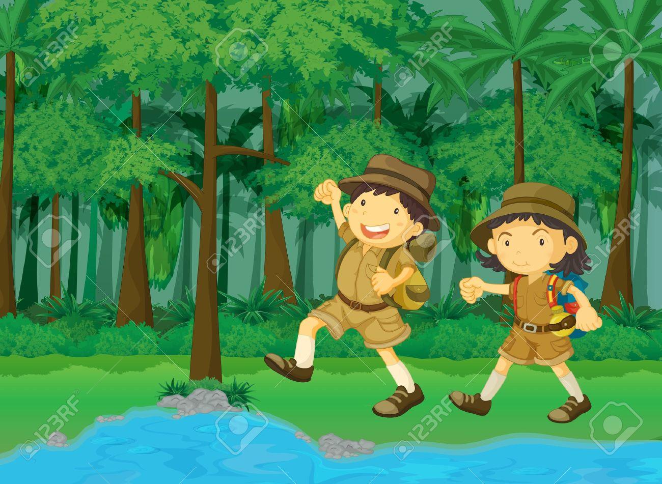 explorer clipart man jungle