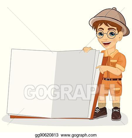Explorer clipart safari outfit. Clip art vector cute