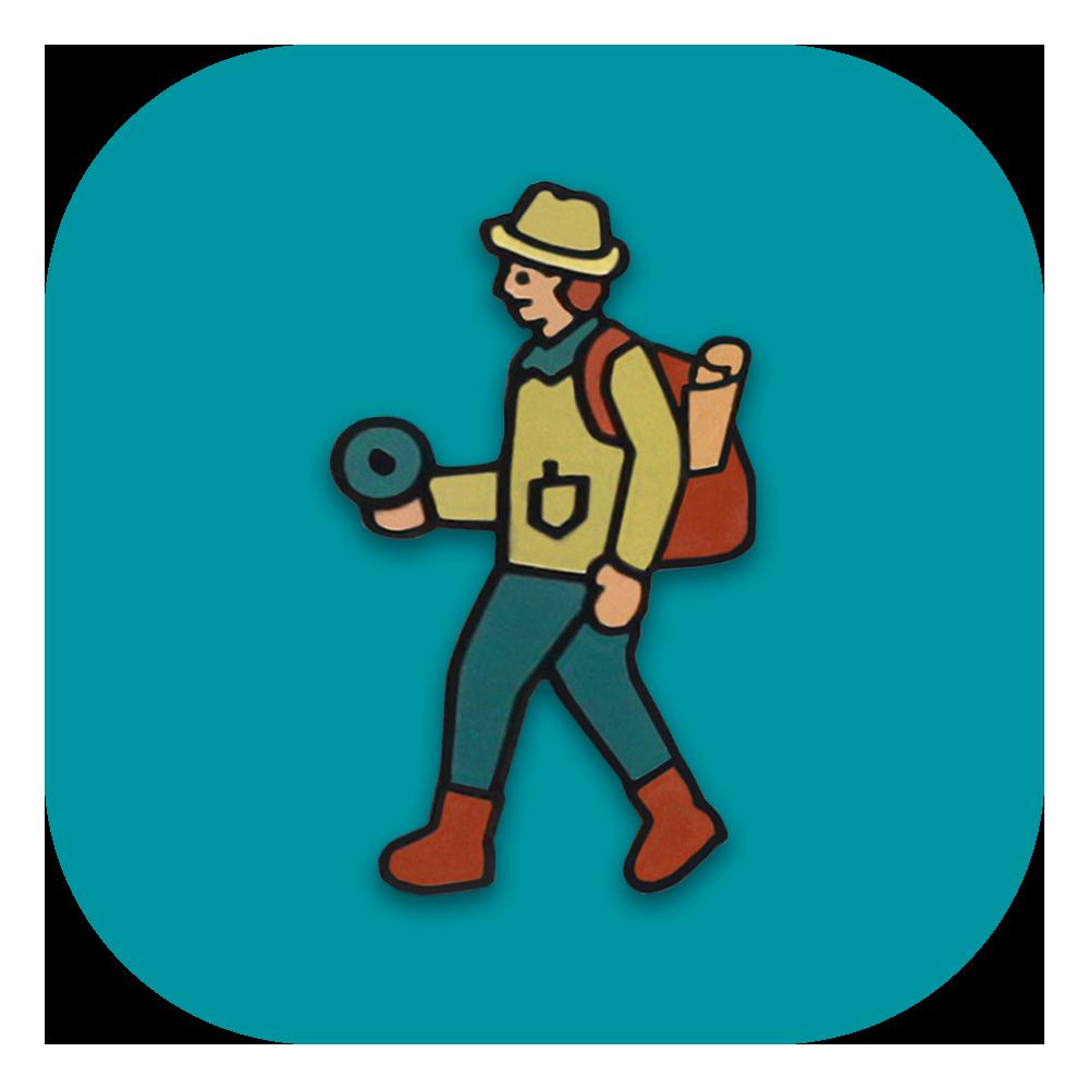 Explorer clipart safari trip. Hat pins pongs
