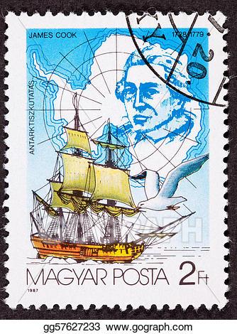Explorer clipart sail ship. Stock illustration canceled hungarian