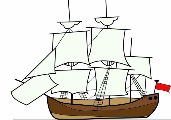 Free images at clker. Explorer clipart sailing ship