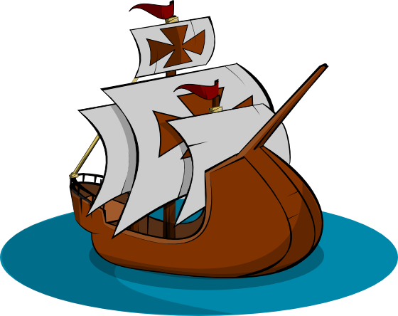 Mayflower clipart three ship. Clip free download best