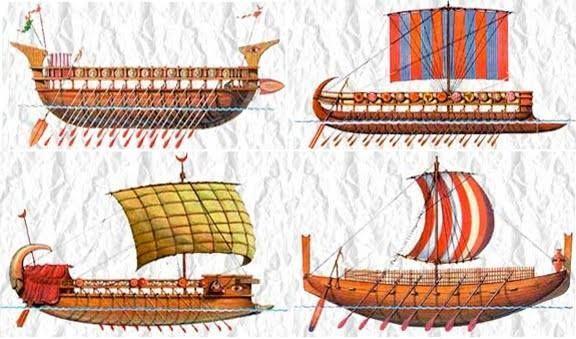 Phoenician trading ships types. Explorer clipart trade ship