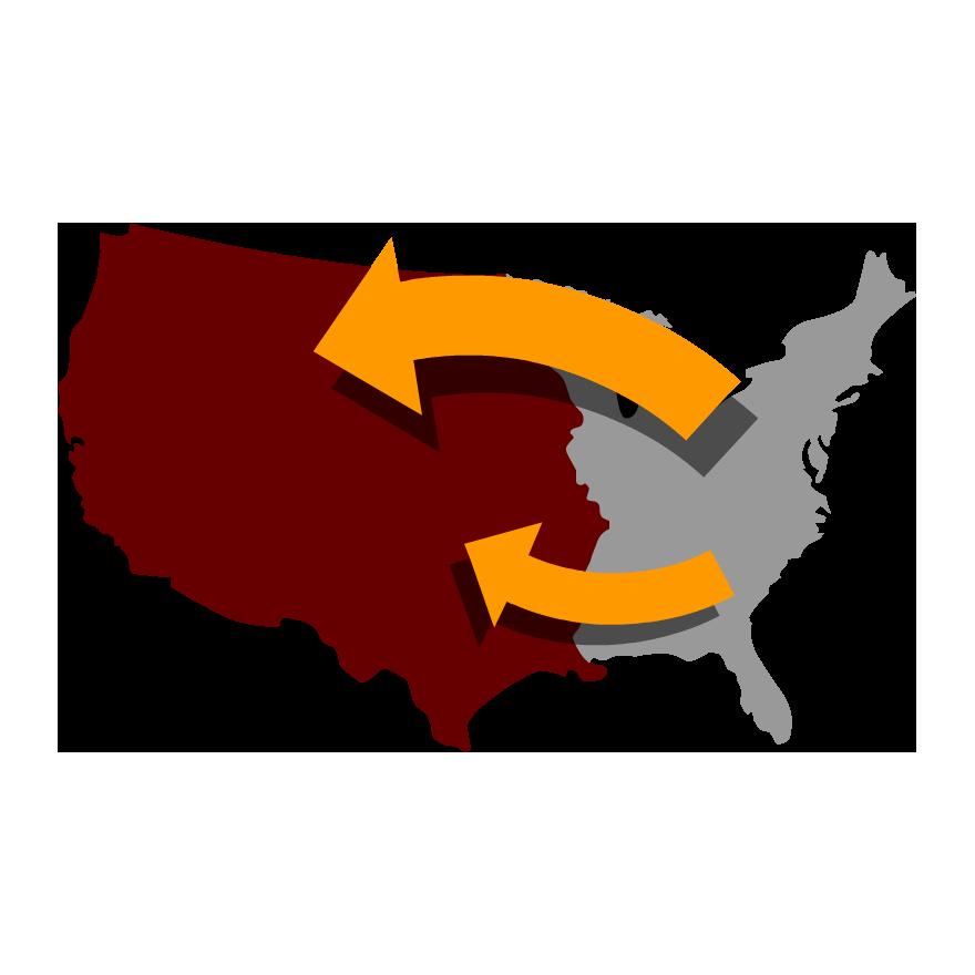 Time zone x national. Explorer clipart westward expansion