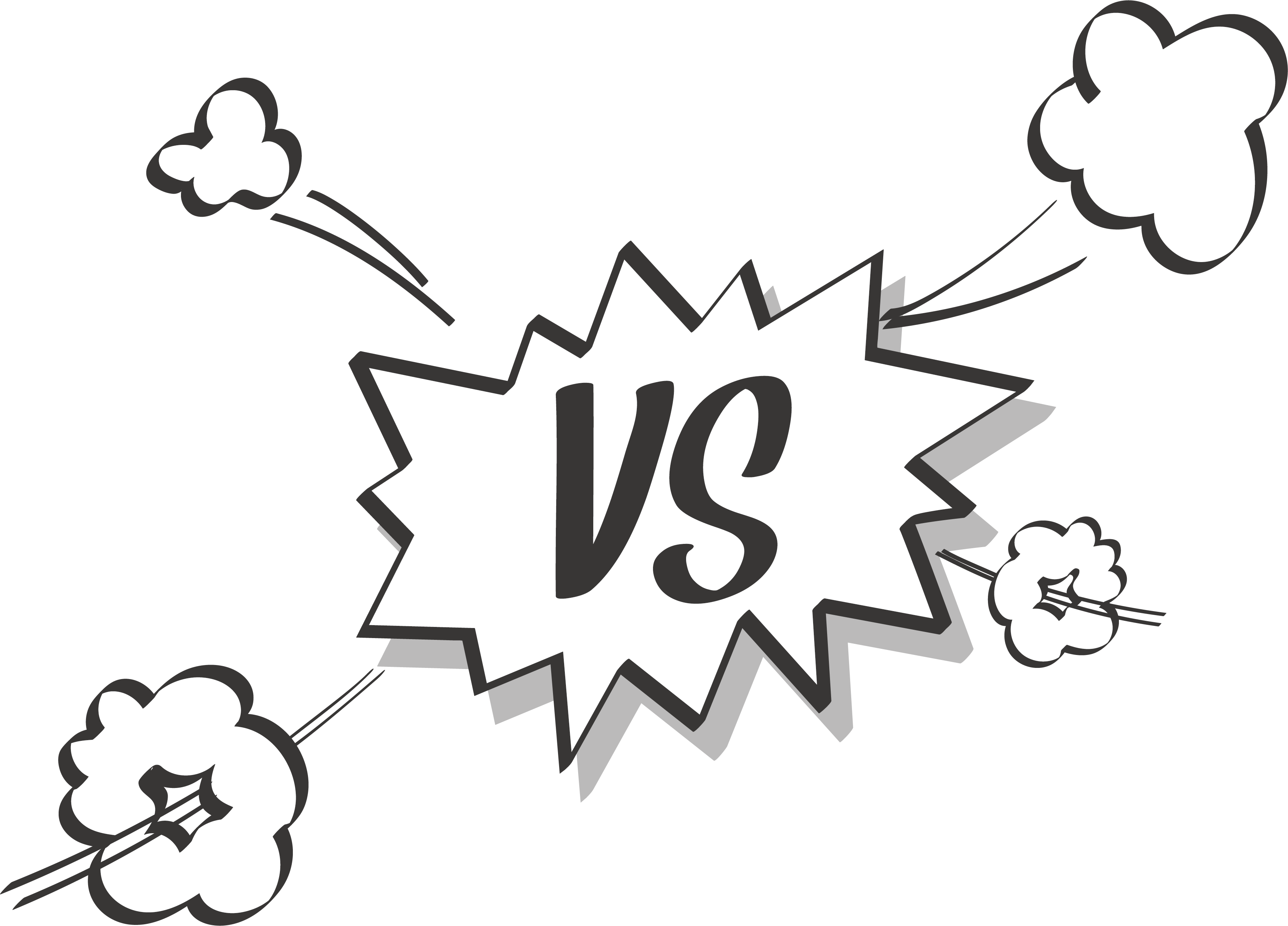 Effect contrast box transprent. Explosion clipart black and white