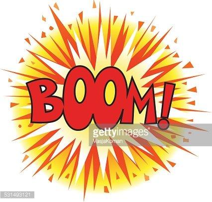 Comic book premium clipartlogo. Explosion clipart boom