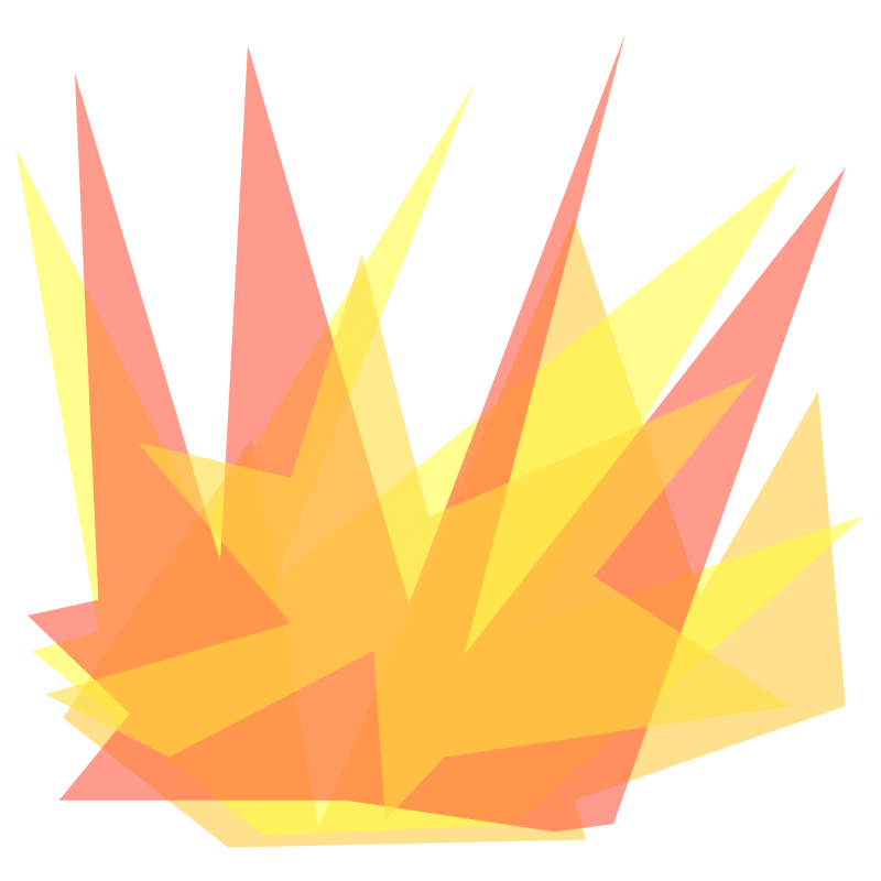 Explosion clipart border. Fire many interesting cliparts
