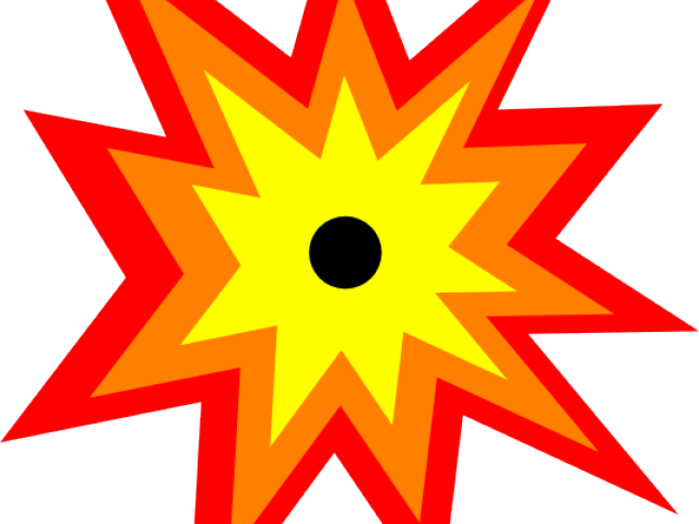 Blast clip art best. Explosion clipart bullet