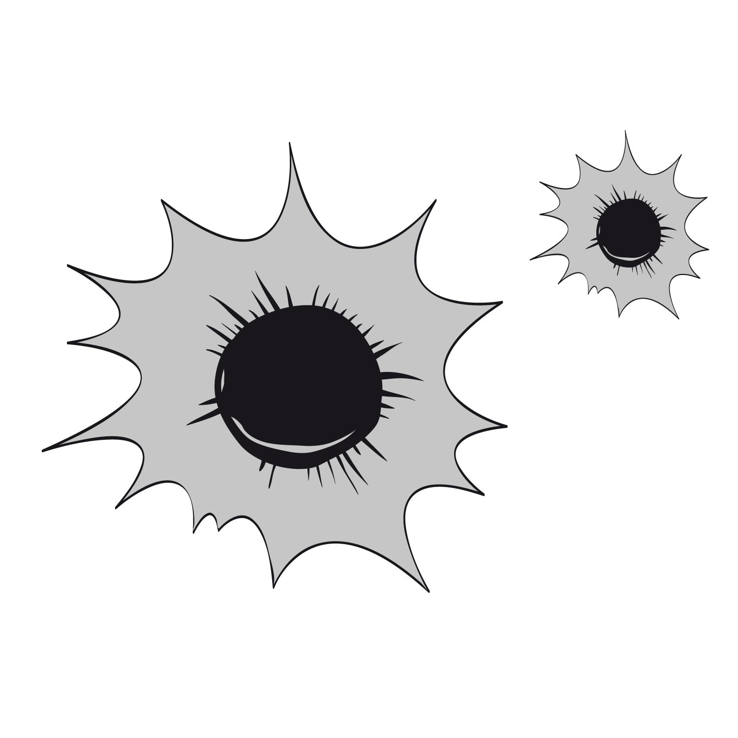 Icon gray holes png. Explosion clipart bullet