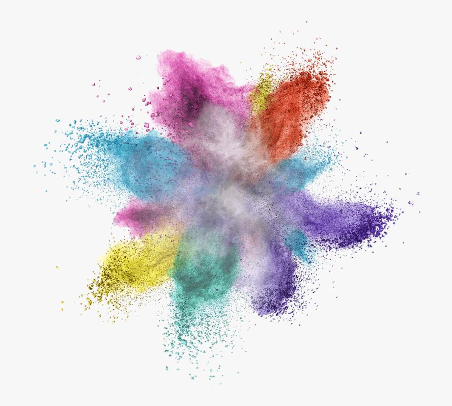 Powder transparent color png. Explosion clipart colorful explosion