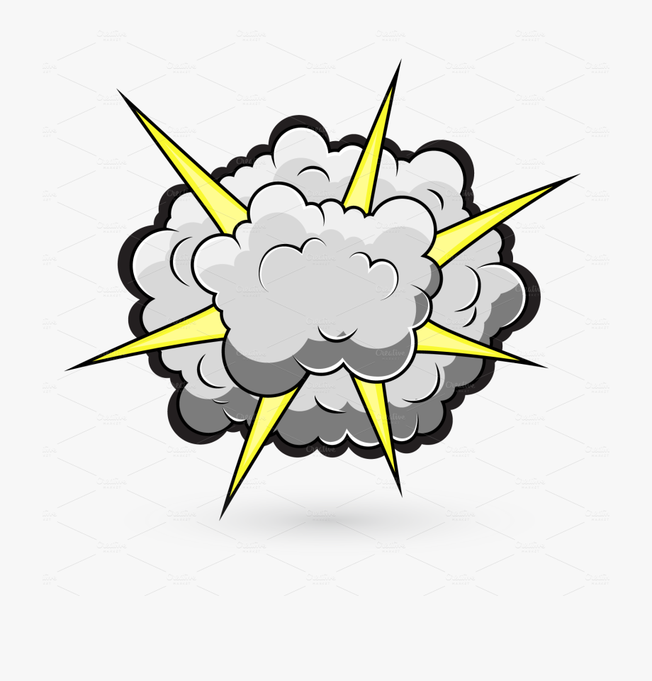 Yellow cartoon png free. Explosion clipart explosion smoke