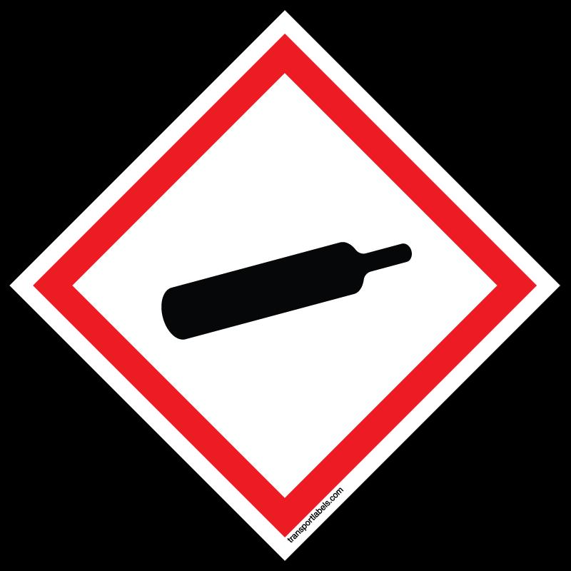 Ghs compressed labels transportlabels. Explosion clipart gas bomb