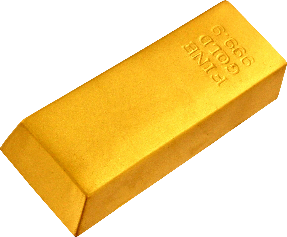 Gold clipart gold nugget.  bar stickers png