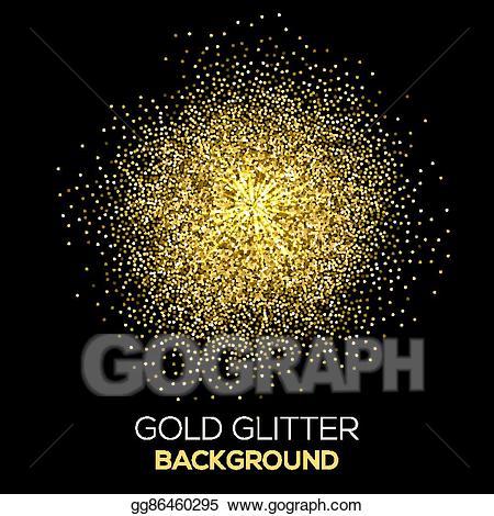 Glitter clipart gold abstract. Vector art confetti on