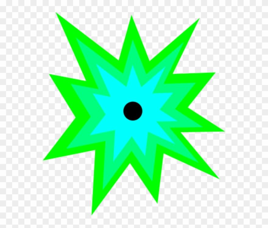 Image of blast cartoon. Explosion clipart green explosion