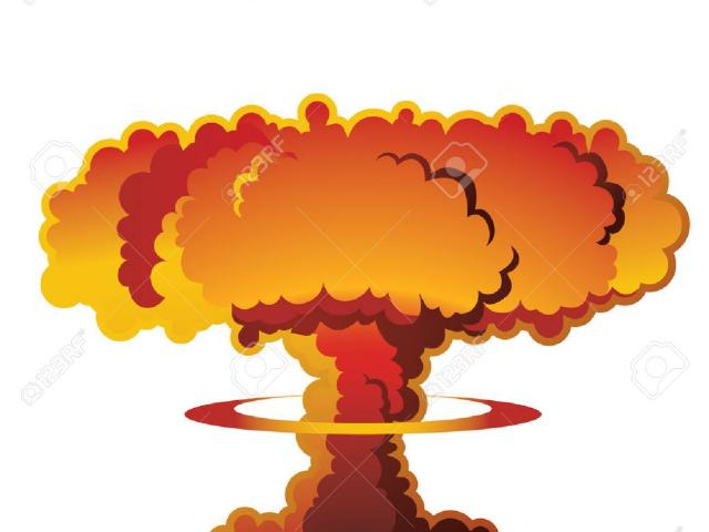 Free download clip art. Explosion clipart nuclear disaster