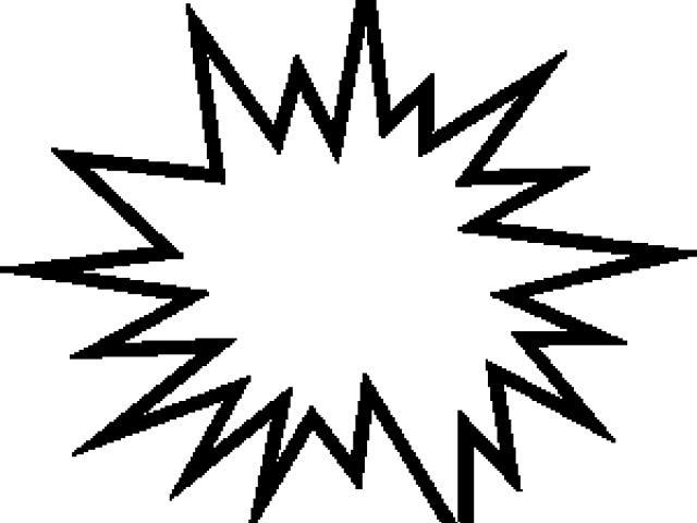 Free bit download clip. Explosion clipart outline