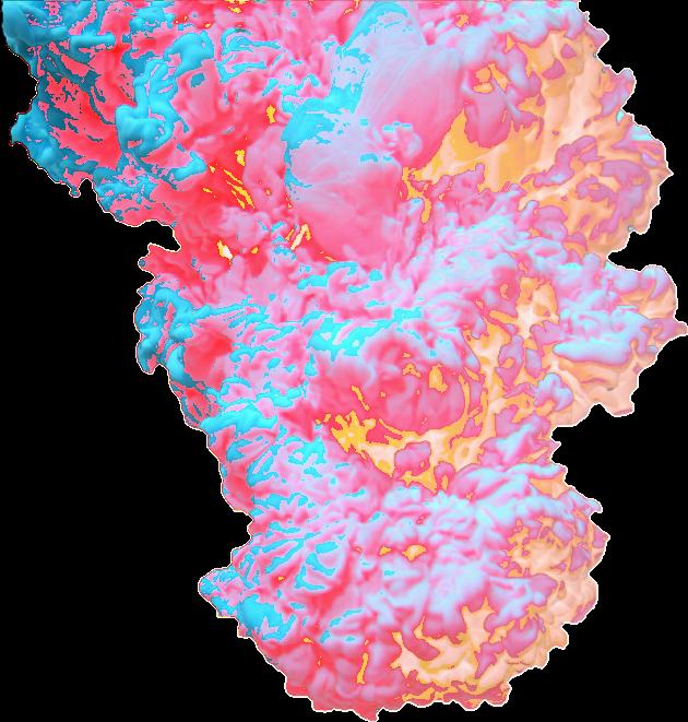 Explosion clipart paint. Colors trippyart smoke multicolor