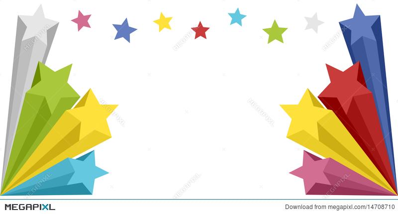 Explosion clipart star banner. Stars illustration megapixl
