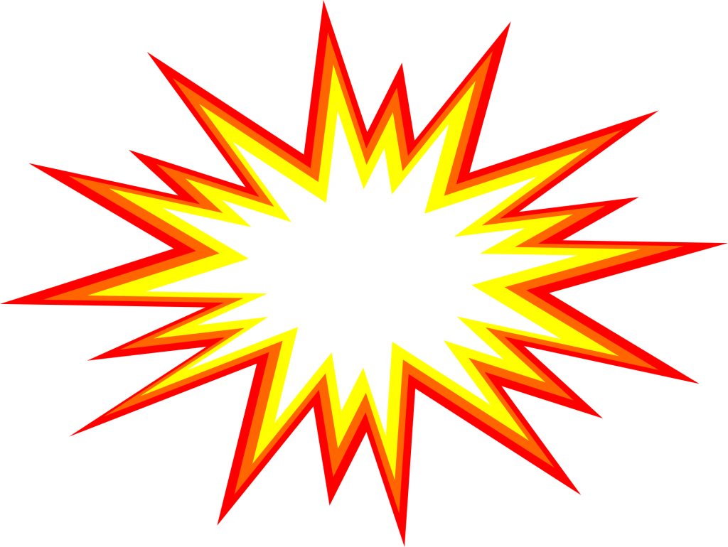 comic vector png. Explosion clipart starburst