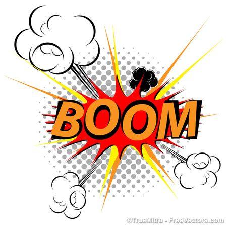 Explosion clipart vector. Clip art graphics