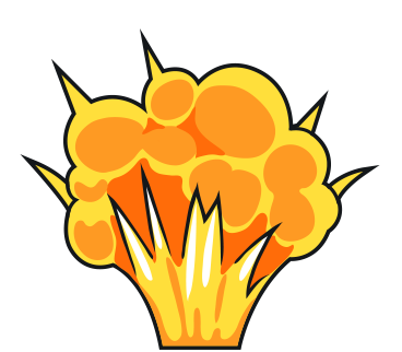 Explosion clip art free. Bomb clipart comic