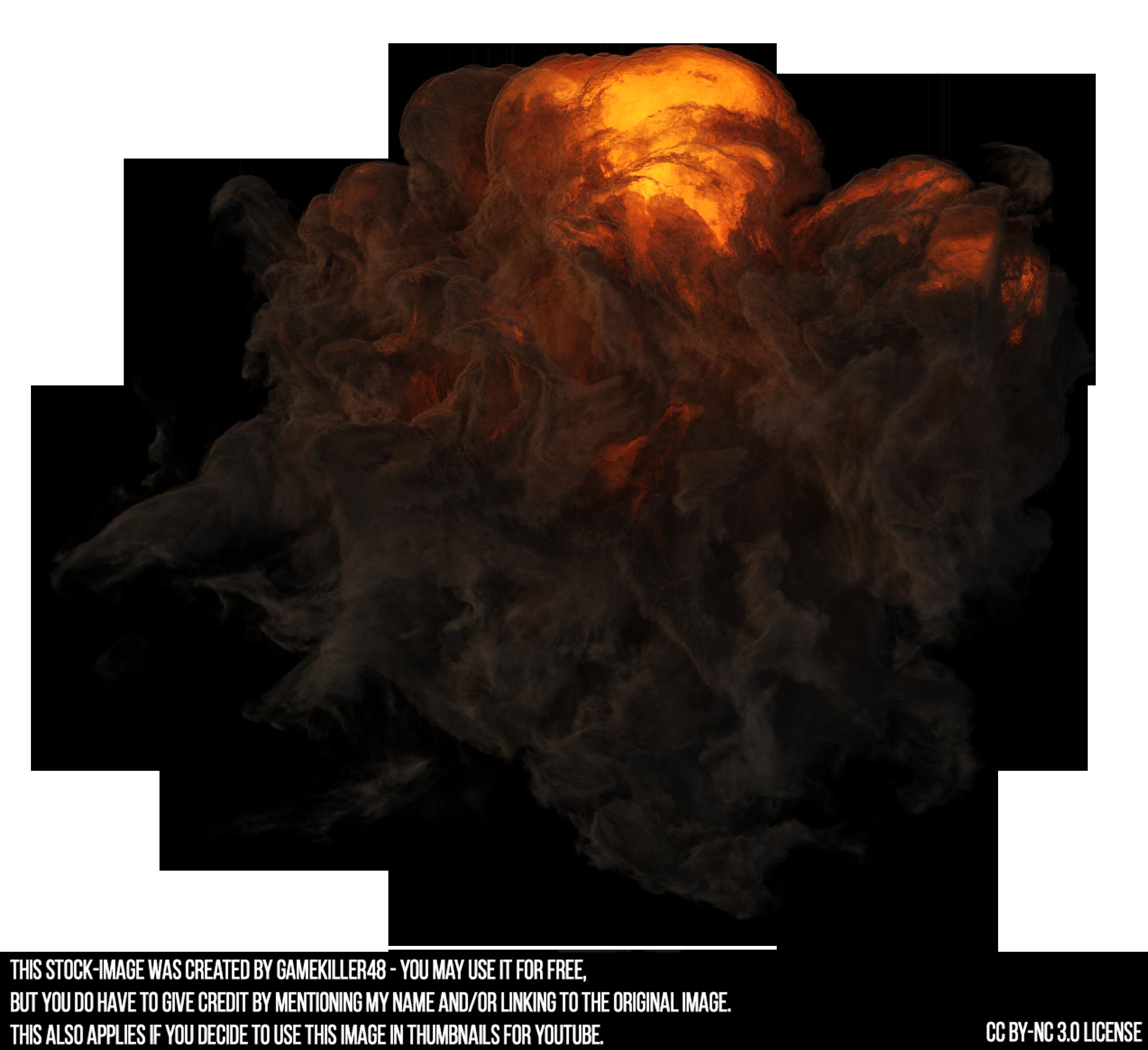Explosion smoke png. By gamekiller on deviantart