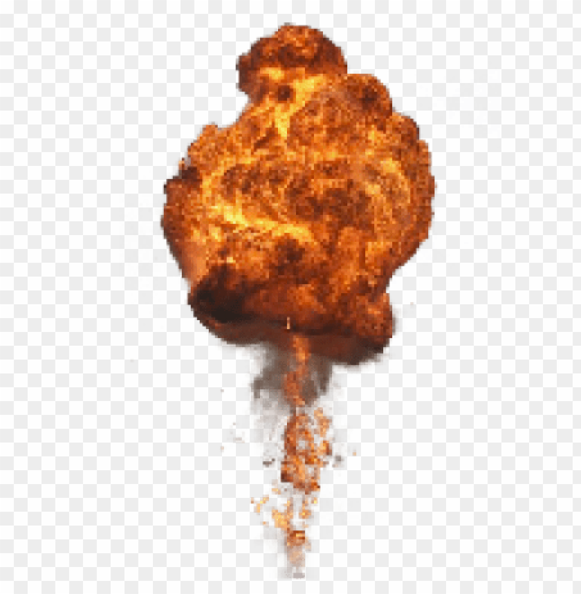 Big with fire and. Explosion smoke png