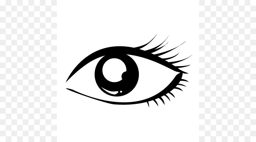 Black and white clip. Eye clipart