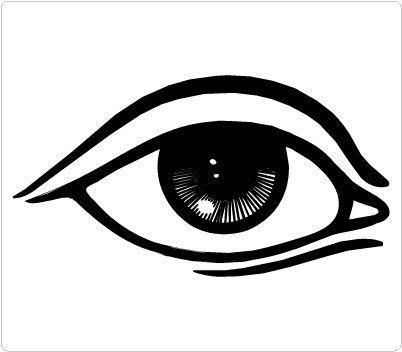 Eyes clipart outline. Pin on logo design