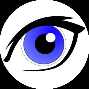 Eyes clip art panda. Eye clipart blue