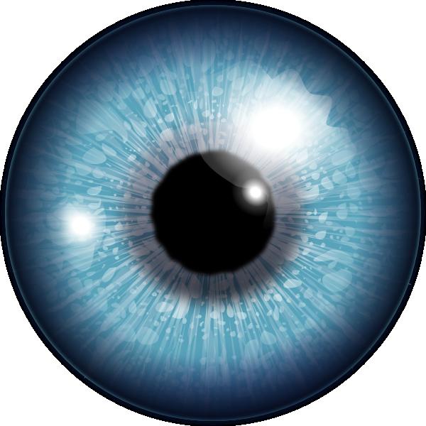 Blue eye clip art. Halloween clipart eyeball