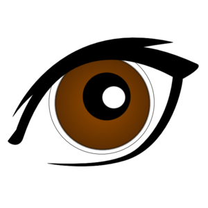 Eyeball clipart dark eyes.  brown clipartlook