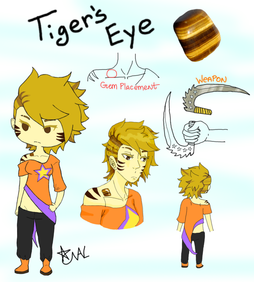 Tigers ref by captain. Eye clipart character