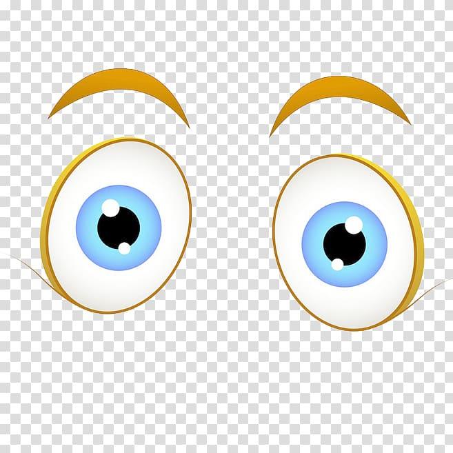 Wide open eyes cartoon. Eye clipart character
