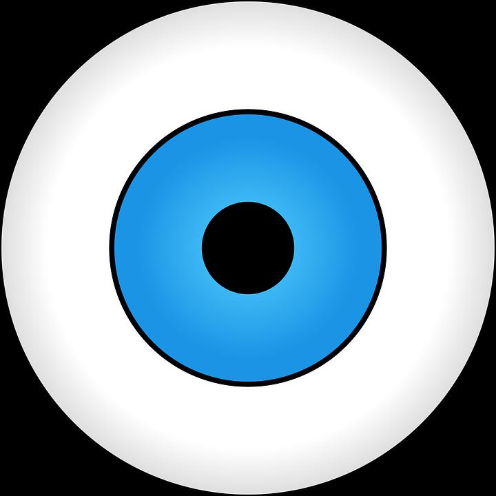 Cartoon eye ball group. Eyeballs clipart blood