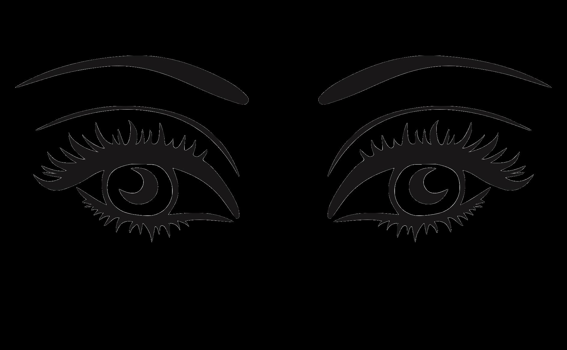 Eyelashes clipart beauty eye. Longlash wimpernwachstum mit nat
