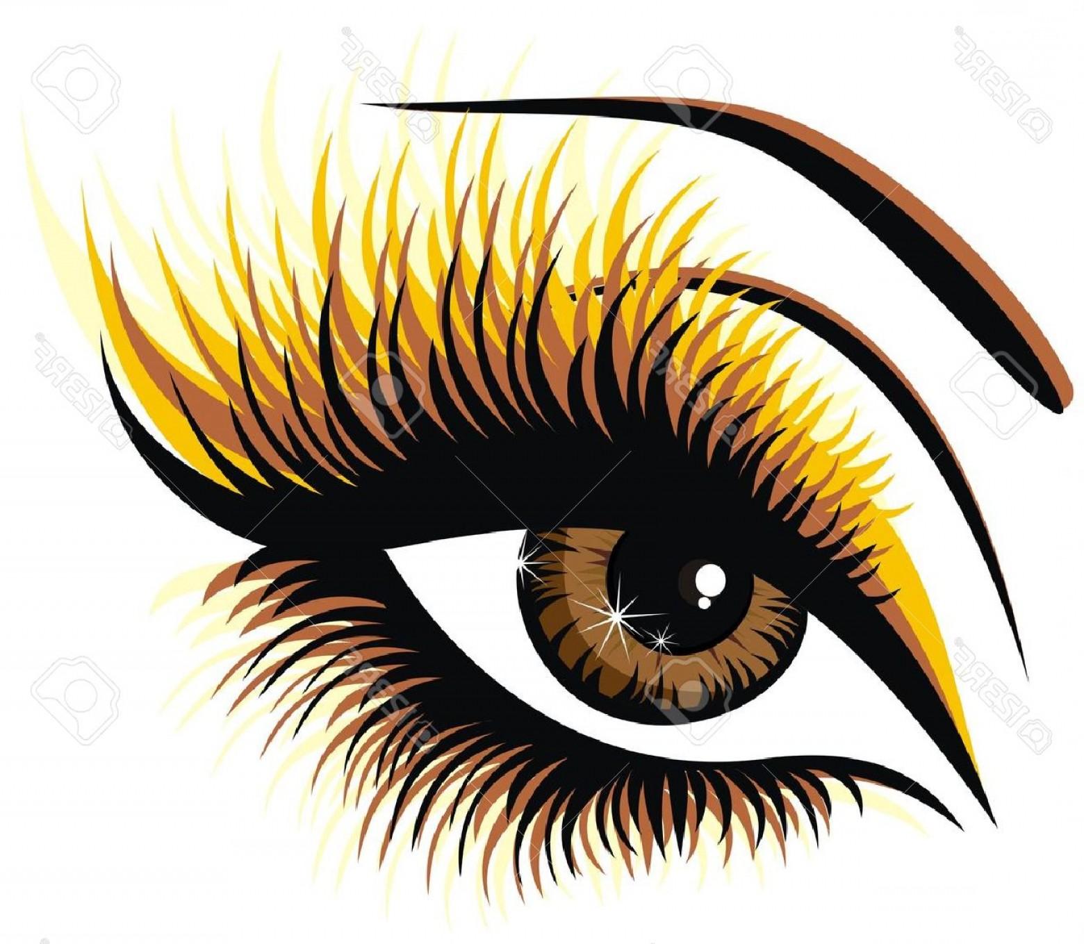 Blue eyes with eyelashes. Eyelash clipart cartoon character